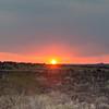 Sunset from the Trans Kalahari Inn