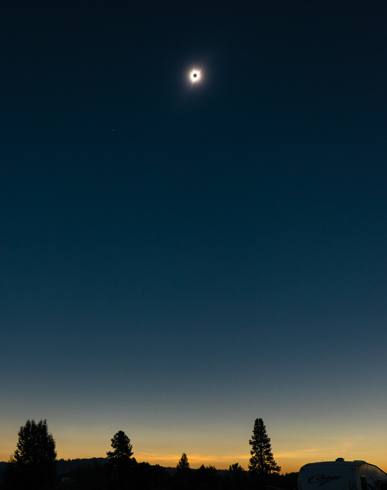 Solar Eclipse Sky