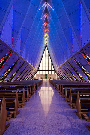 US Air Force Academy Cadet Chapel near Colorado Springs