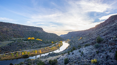 Rio Grande River near Taos, New Mexico