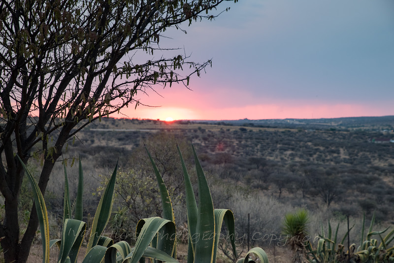 Our first sunset in Namibia