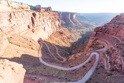 Shafer Trail in Canyonlands National Park, Utah