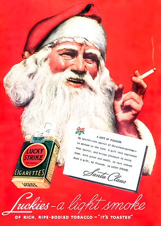 1936 Lucky Strike Cigarettes Advertisement
