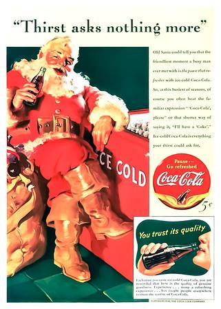 1941 Coca-Cola Christmas Advertisement