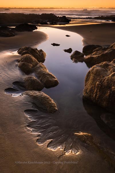 Ocean Flow at Sunset