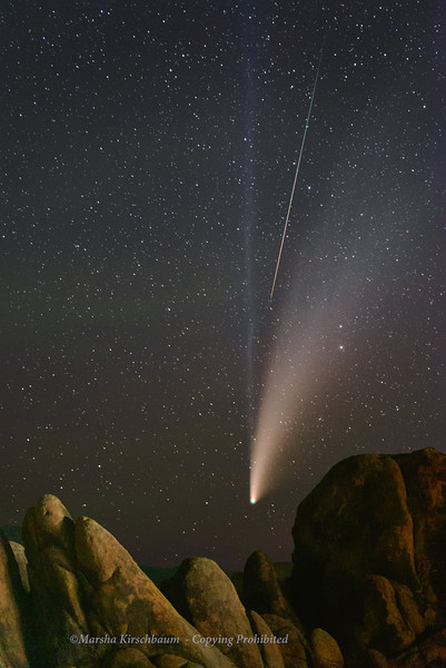 Comet C/2020 F3 NEOWISE with Meteor
