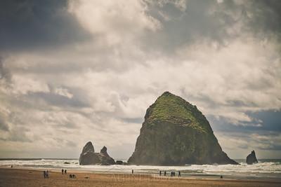 Haystack Rock, Cannon Beach, Oregon.