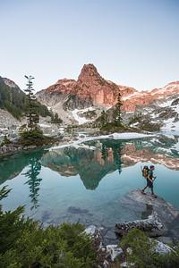 David Wilson, Backpacking at Watersprite Lake