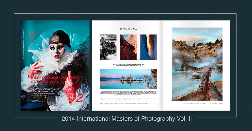 """Volume II – 2014 International Masters of Photography•10"""" X 13"""" Coffee Table Book•Hard Cover with Dust Cover•Case Bound, Smooth Sewn•Square Back Reinforced Binding   •        The series """"International Masters of Photography"""" is devoted exclusively to the art of photography, and is an annual chronicle of what is happening within the global community of photographers all over the world. Featuring the work of noteworthy photographers, it represents a wide range of genres."""