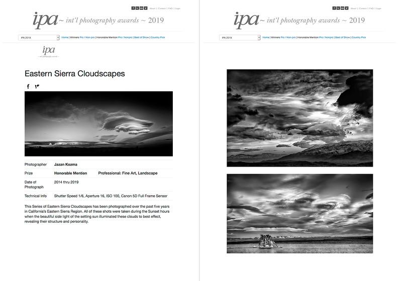 IPA - Int'l Photography Awards 2019