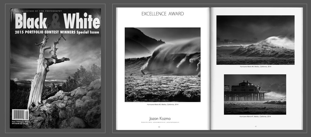 Excellence Award - Black & White Magazine 2015 Portfolio Contest Winner Jazan Kozma.