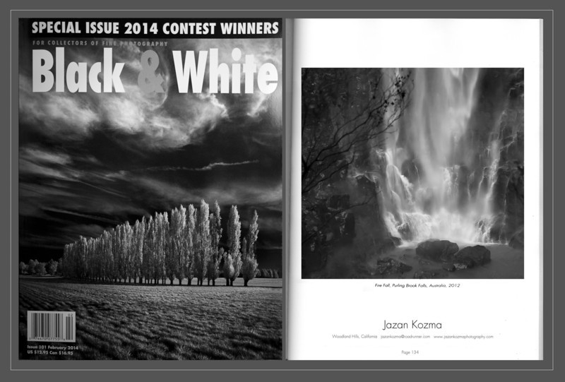 Black & White Magazine 2014  Single Image Contest Winner Jazan Kozma, Catagory: Water