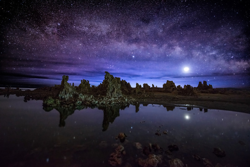 Milky Way and Venus over Mono Lake