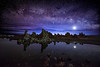 Milky Way and Venus over Mono Lake