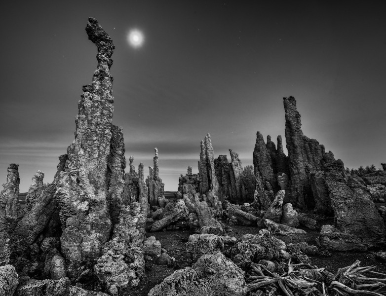 Tufas by Moonlight