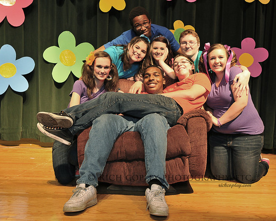 "April 14, 2012 - ""School House Rock Live"" is a wrap. I don't think my girl is going to forget these guys. (121/366)"