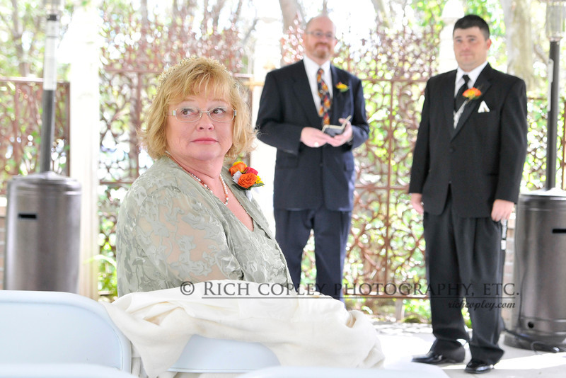Sept. 22, 2012 -- My Cousin Sharon, aka the mother of the bride, awaits her daughter's appearance at the wedding. (282/366)