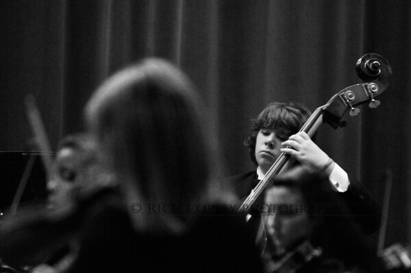 Nov. 10, 2012 - Bassman Eli performing with the Bryan Station High School Orchestra. (328/366)