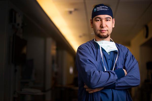 Environmental portraits of doctors, nurses and hospital staff. Photo by Adam Glanzman for Newton Wellesley Hospital