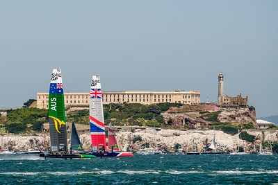 Australia and Great Britain passing Alcatraz May 4.  Australia is the current series leader.  See more at http://bit.ly/2PLuOUA