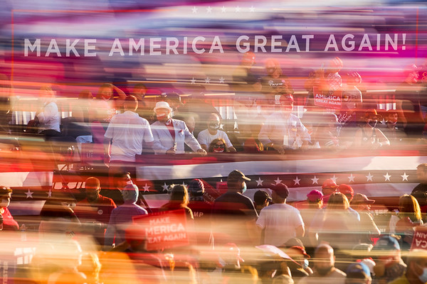 President Donald J. Trump makes remarks at a Make America Great Again event at Pro Star Aviation LLC in Londonderry, New Hampshire, U.S., on Friday, August 28, 2020