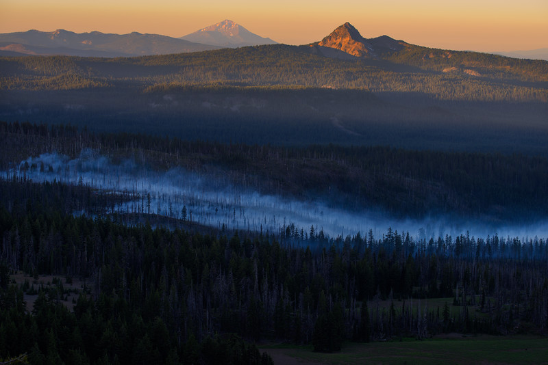 Fire at Crater Lake