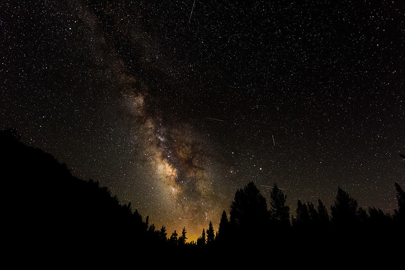 Milky Way at Miller Lake during Perseid Meteor Shower