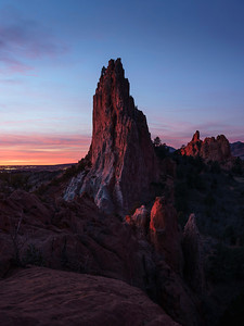 Late January Sunrise, Garden of the Gods