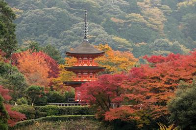 Pagoda in Autumn III