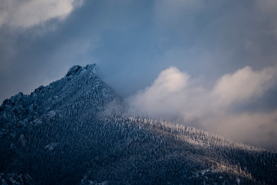 First light on the Sangre De Christo mountains after a recent snowfall.  Shot from the Great Sand Dunes National Park.