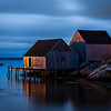 Blue Hour at Peggy's Cove, Nova Scotia