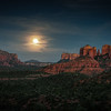 Moonrise at Cathedral Rock, Sedona, Arizona