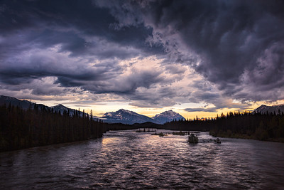 Storm over Athabasca River