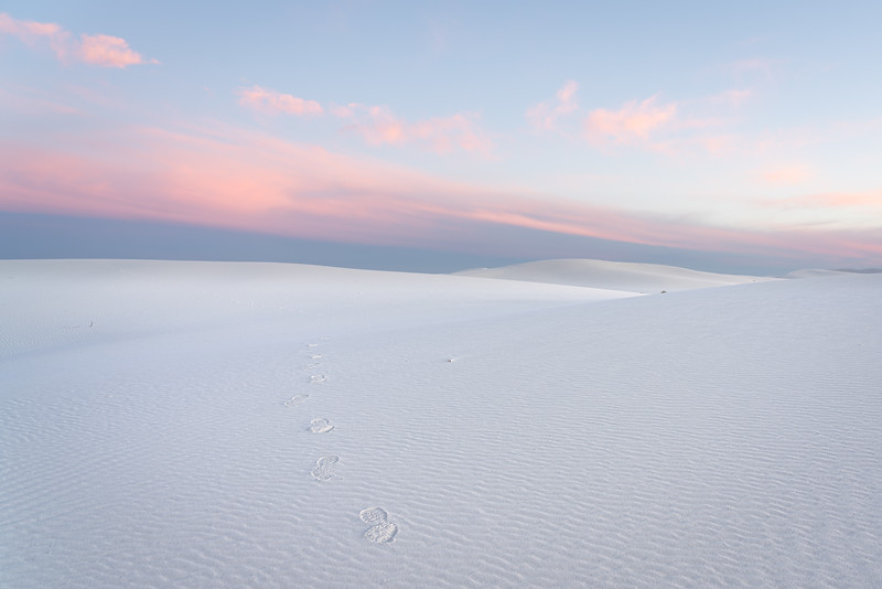New Year's Eve sunset at White Sands National Park.