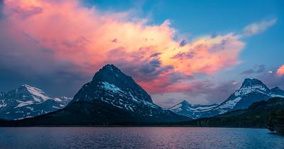 Mt. Grinnell & Swiftcurrent Lk, Glacier NP