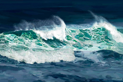 Oregon Ocean 2 - Digital Painting