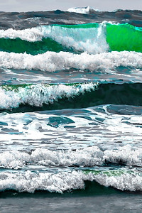 Oregon Ocean Vertical - Digital Painting
