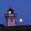 Covehead Harbor Lighthouse Moonrise, Prince Edward Island