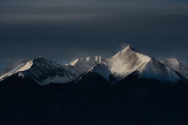 Sangre de Cristo Mountains shot from Silver Cliff, CO.