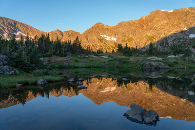 First light over Missouri Lake in the Holy Cross Wilderness on this second week of September.