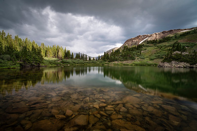 Evening light at Lost Lake, Chaffee County, CO