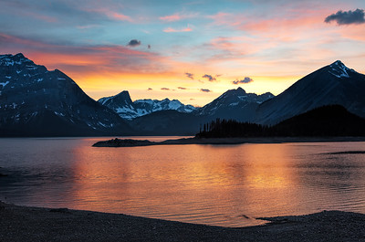 Upper Lake Sunset, Kananaskis