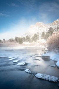 A frosty January morning at Eleven Mile Canyon