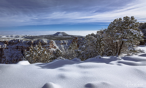 Sunset Crater From The Grand  Canyon