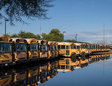 Schoolbus reflections