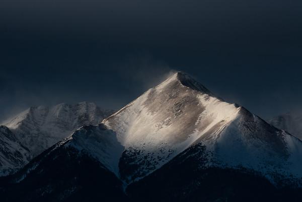 Sangre de Cristo Mountains shot from Silver Cliff Colorado with Tamron 150-600mm lens + 1.4 teleconverter (840 mm)