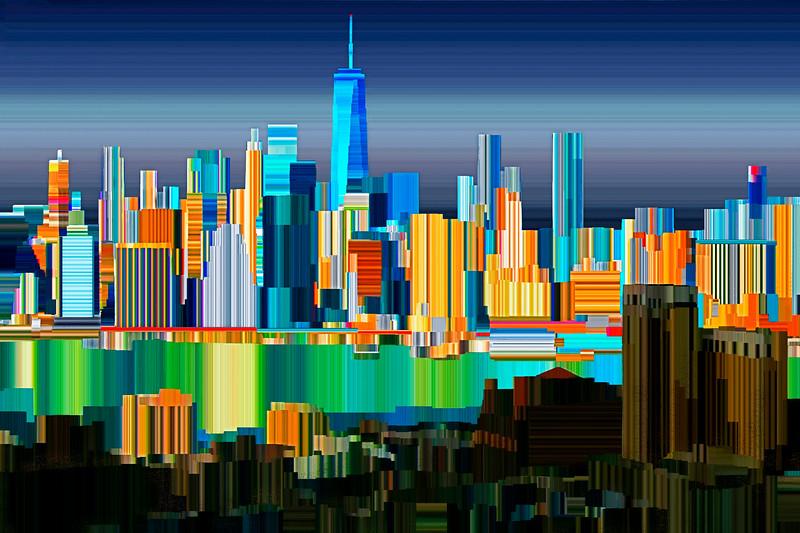 New York Harbor - Digital Painting
