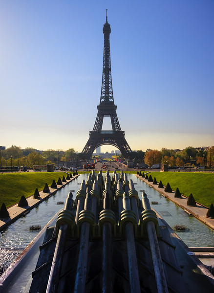View of the Eiffel Tower from The Trocadero.