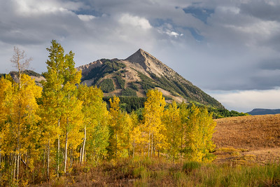 Looking back at Mt. Crested Butte from Gothic Road.