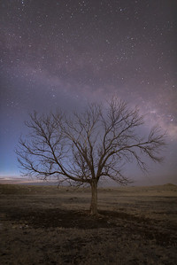 Starry night on the eastern plains of Colorado.  Hanover, CO  A composite of 14 photos for noise reduction.